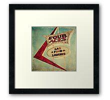 Four Aces Motel  Framed Print