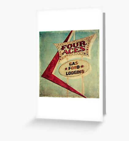 Four Aces Motel  Greeting Card