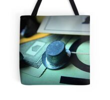 Monopoly board game being played on family game night Tote Bag