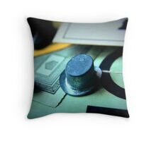 Monopoly board game being played on family game night Throw Pillow
