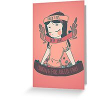 [cheese queen] Greeting Card
