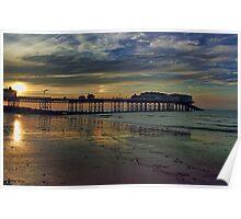 Cromer Pier at sunset Poster