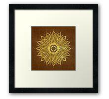 ozoráhmi mandala, copper Framed Print