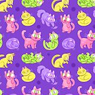 WHOLE LOTTA CAT (NEON) by Lawlzy