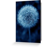 Blue Dandelion Greeting Card