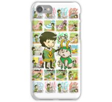 A boy and his dog iPhone Case/Skin