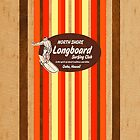 Pipeline Striped Hawaiian Faux Wood Surfboard - Orange and Yellow by DriveIndustries