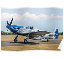 """P-51D Mustang 44-73656 F-AZXS """"Moonbeam McSwine"""" Poster"""