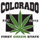 Colorado Marijuana Cannabis Weed T-Shirt by MarijuanaTshirt