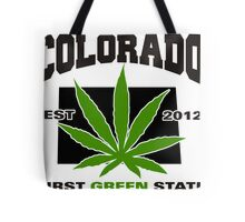 Colorado Marijuana Cannabis Weed T-Shirt Tote Bag