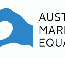 Australian Marriage Equality (Blue Logo & Text) - Stickers Sticker