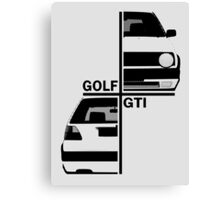 vw golf, golf gti mk2 Canvas Print