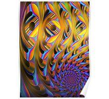 A different spiral, colourful fractal artwork Poster