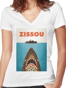 Zissou Women's Fitted V-Neck T-Shirt
