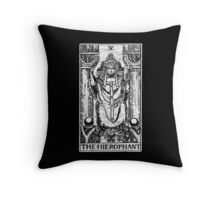 The Hierophant Tarot Card - Major Arcana - fortune telling - occult Throw Pillow