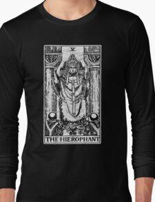 The Hierophant Tarot Card - Major Arcana - fortune telling - occult Long Sleeve T-Shirt