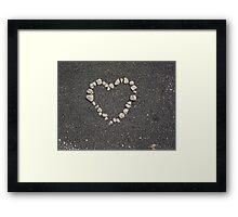 sand heart Framed Print