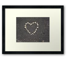 sand heart Framed Print