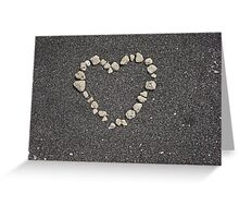 sand heart Greeting Card