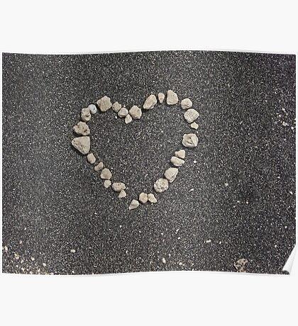 sand heart Poster