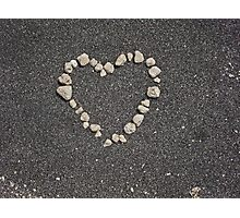 sand heart Photographic Print