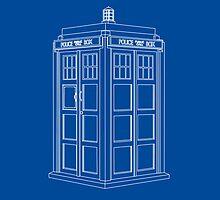 TARDIS Blue by MuggleJoanne