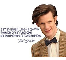 Doctor who 11th Doctor quote  Photographic Print