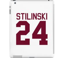 Stiles Stilinski's Jersey - maroon/red text iPad Case/Skin