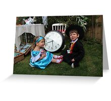 Alice and the Mad Hatter Greeting Card