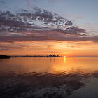 My World This Morning - Toronto Skyline at Sunrise by Georgia Mizuleva