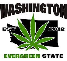 Washington Marijuana Cannabis Weed T-Shirt Photographic Print