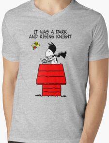 Snoopy Batman Mens V-Neck T-Shirt