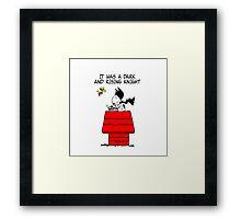 Snoopy Batman Framed Print