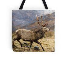 Red Deer Stag Running Tote Bag