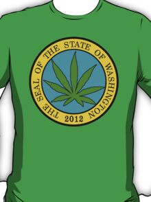 Washington Marijuana Cannabis Weed T-Shirt T-Shirt