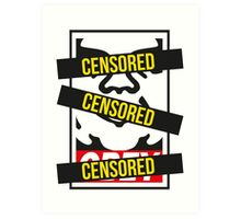 Obey - Censored Art Print