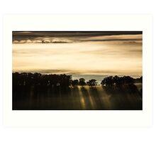 Rolling Fog - Sunrise Art Print