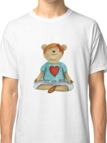 Live Love Yoga Bear (no background) Classic T-Shirt