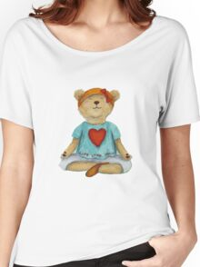 Live Love Yoga Bear (no background) Women's Relaxed Fit T-Shirt