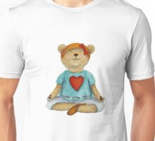 Live Love Yoga Bear (no background) Unisex T-Shirt