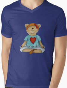 Live Love Yoga Bear (no background) Mens V-Neck T-Shirt