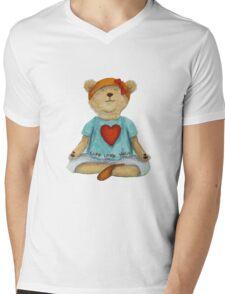 Live Love Yoga Bear (no background) Mens V-Neck T-Shirt