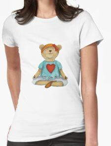 Live Love Yoga Bear (no background) Womens Fitted T-Shirt