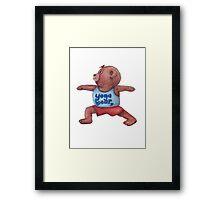 Warrior Yoga Bear  Framed Print