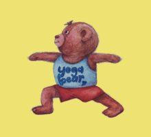 Warrior Yoga Bear  Kids Tee