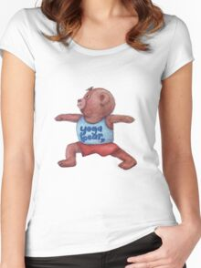 Warrior Yoga Bear  Women's Fitted Scoop T-Shirt