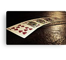 Cards of Hearts Canvas Print