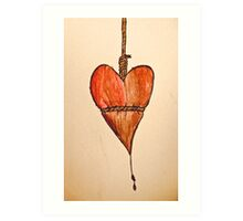 Noose Around My Heart Art Print