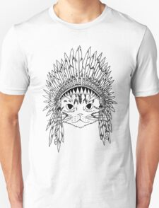 Chief Kitty - Black Unisex T-Shirt