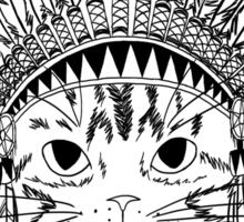 Chief Kitty - Black Sticker